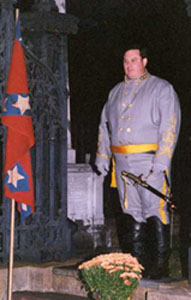 Actor portraying General Dahlgren during Angels on the Bluff Tour